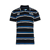 Number 8 Stripe Polo Shirt - Black