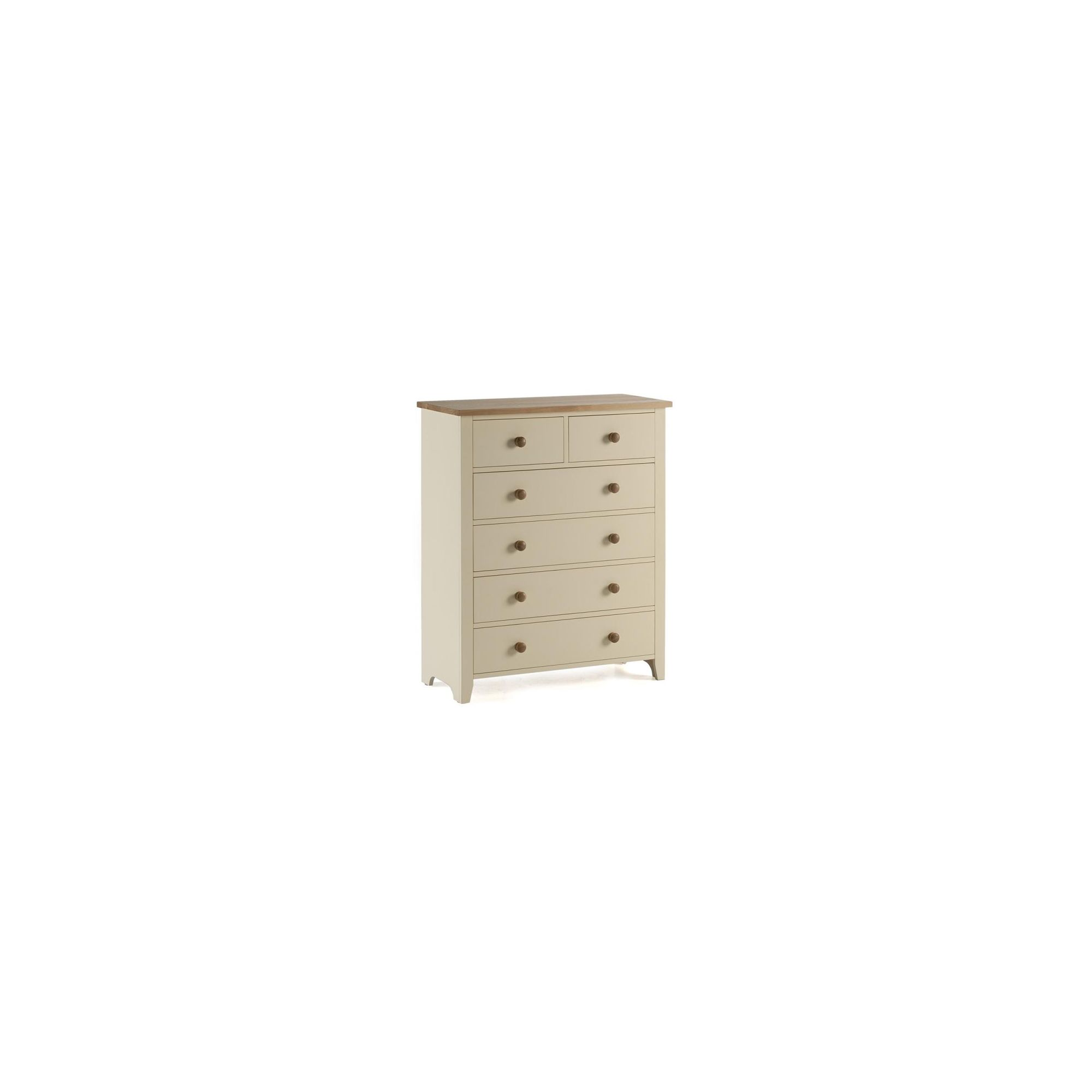 Ametis Camden Painted Pine and Ash Deep Chest in Painted Ivory - 90cm at Tesco Direct