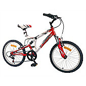 "Woodworm Kids Bxi Junior 20"" 6 Speed Shimano Dual Suspension Mountain Bike Red"