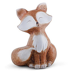 Scout the 20cm Sitting Terracotta Fox Statue Ornament