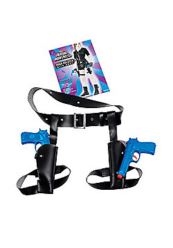 Bristol Novelty - Thigh Twin Holster with Guns