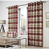 Curtina Belvedere Lined Red Curtains - 90x72 Inches