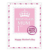 Personalised Pink 1st Class Mum Mother's Day Card