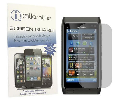 iTALKonline S-Protect LCD Screen Protector and Micro Fibre Cleaning Cloth - For Nokia N8