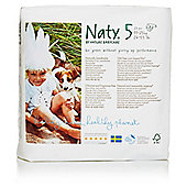 Naty by Nature Babycare Size 5 Nappies 23 Pack- (24-60lbs/11-25kg)