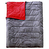 Tesco Double Grey & Red Sleeping Bag 200 gsm