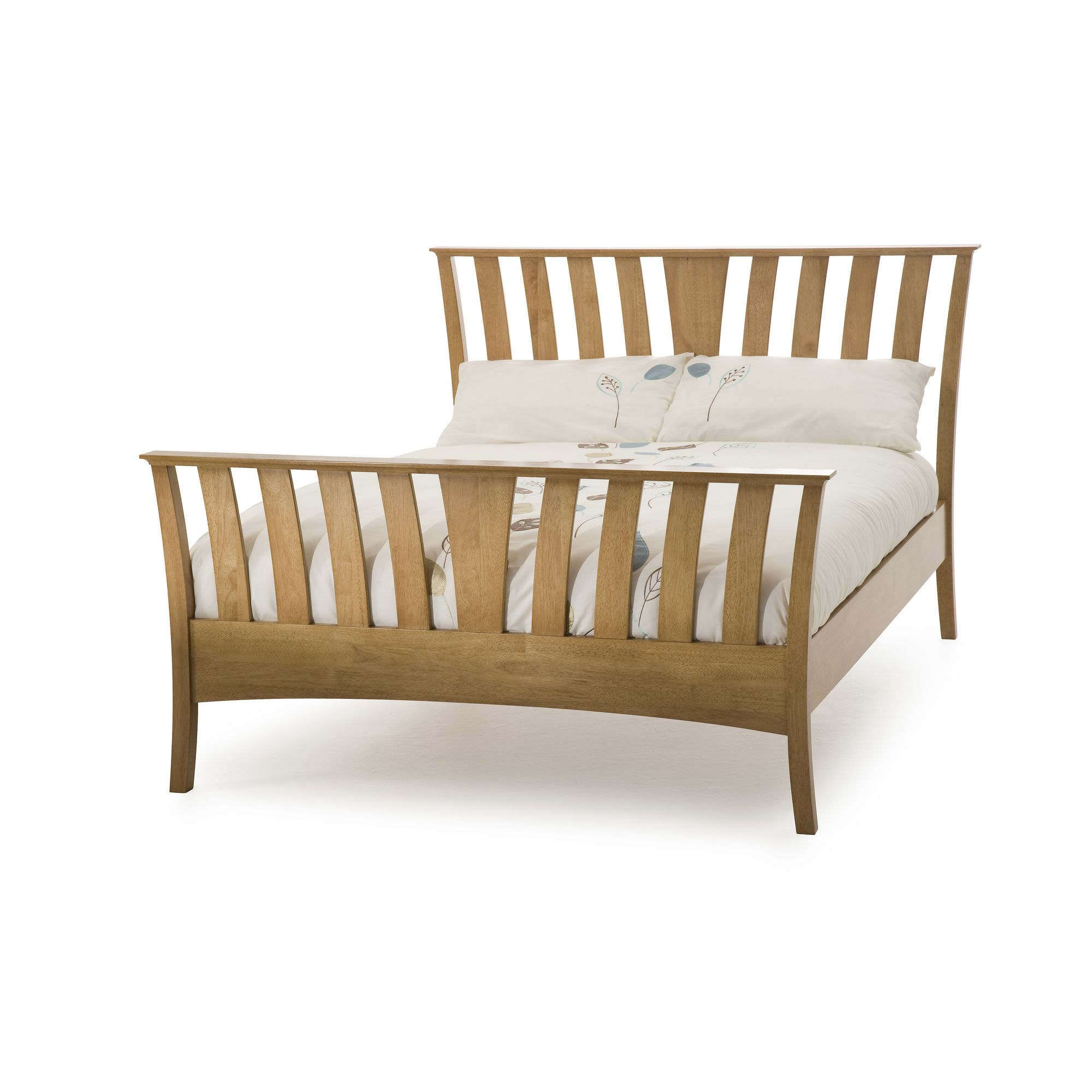 Serene Furnishings Ordelia Bed - Honey Oak - Double at Tesco Direct
