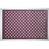 Lorena Canals Estrellitas Purple Contemporary Rug - 120 cm W x 160 cm D (3 ft 11 in x 5 ft 3 in)