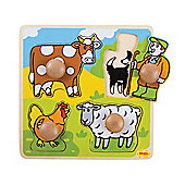 Bigjigs Toys BJ520 My First Peg Puzzle Farm
