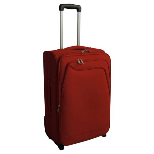 Tesco 2-Wheel Soft Sided Suitcase, Red Large