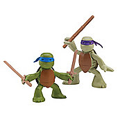 Teenage Mutant Ninja Turtles in Training 2-pack Don and Leo