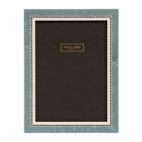 Addison Ross Marquetry Miki Frame in Blue - 4 in x 6 in