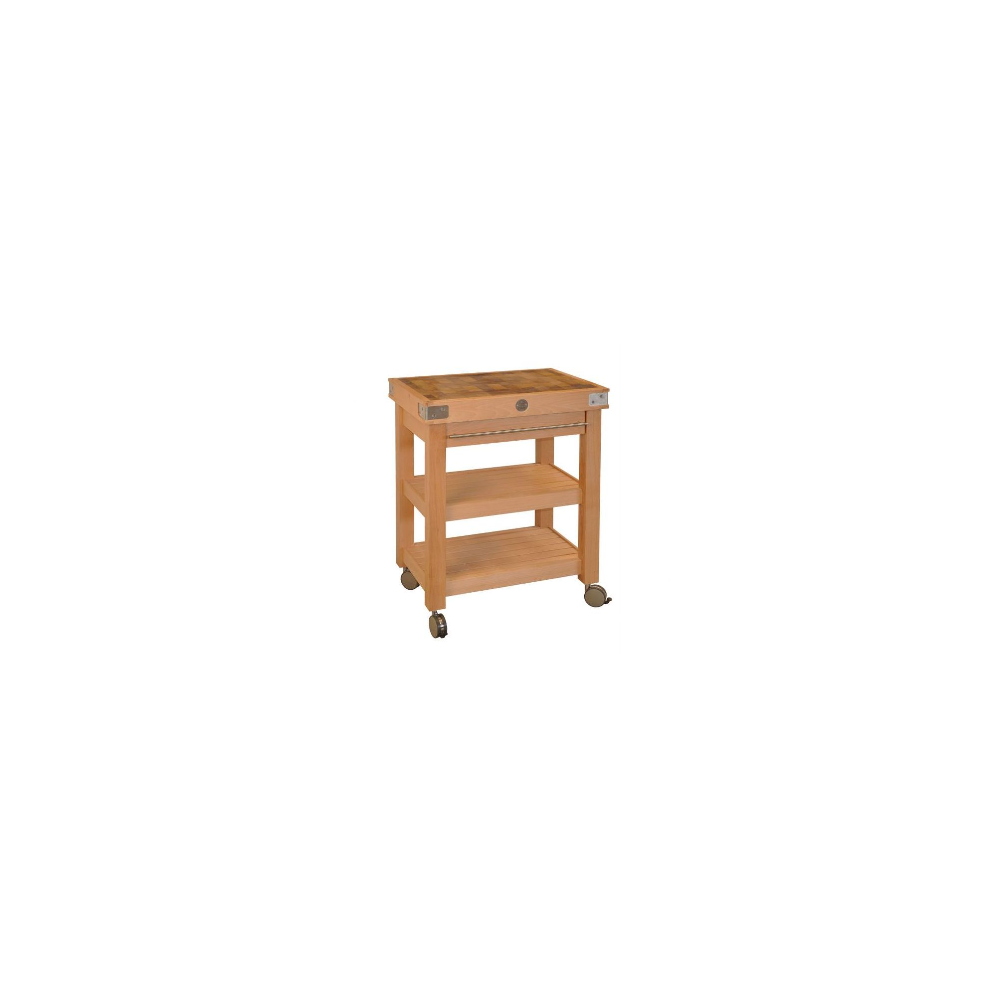 Chabret Double Stages Kitchen Cart - 90cm X 60cm X 50cm at Tesco Direct