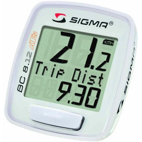 Sigma Sport BC8.12 ATS Wireless Computer. 8 Functions