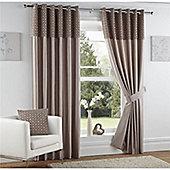 Curtina Woburn Mink 90x90 inches (228x228cm) Eyelet Curtains