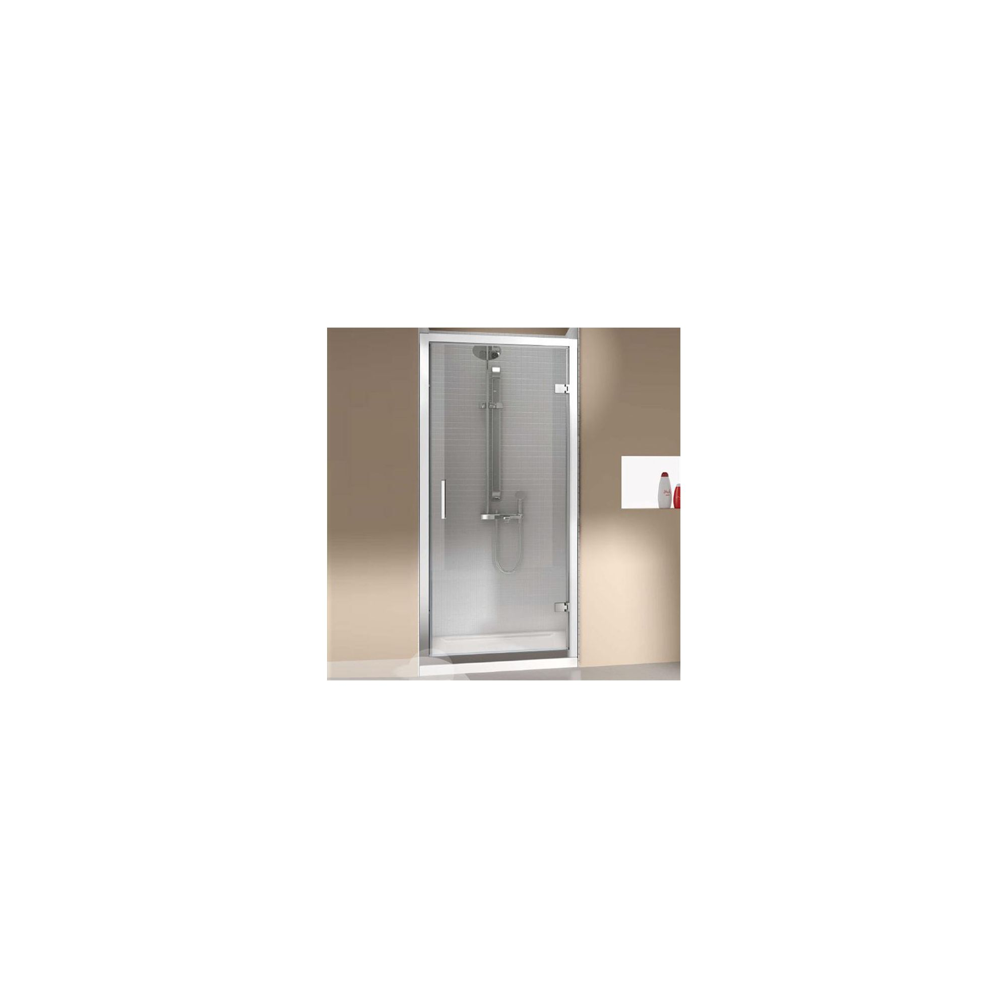 Merlyn Vivid Eight Hinged Shower Door, 1000mm Wide, 8mm Glass at Tesco Direct
