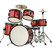 Rocket TIM J 5 Piece Junior Drum Kit - Red