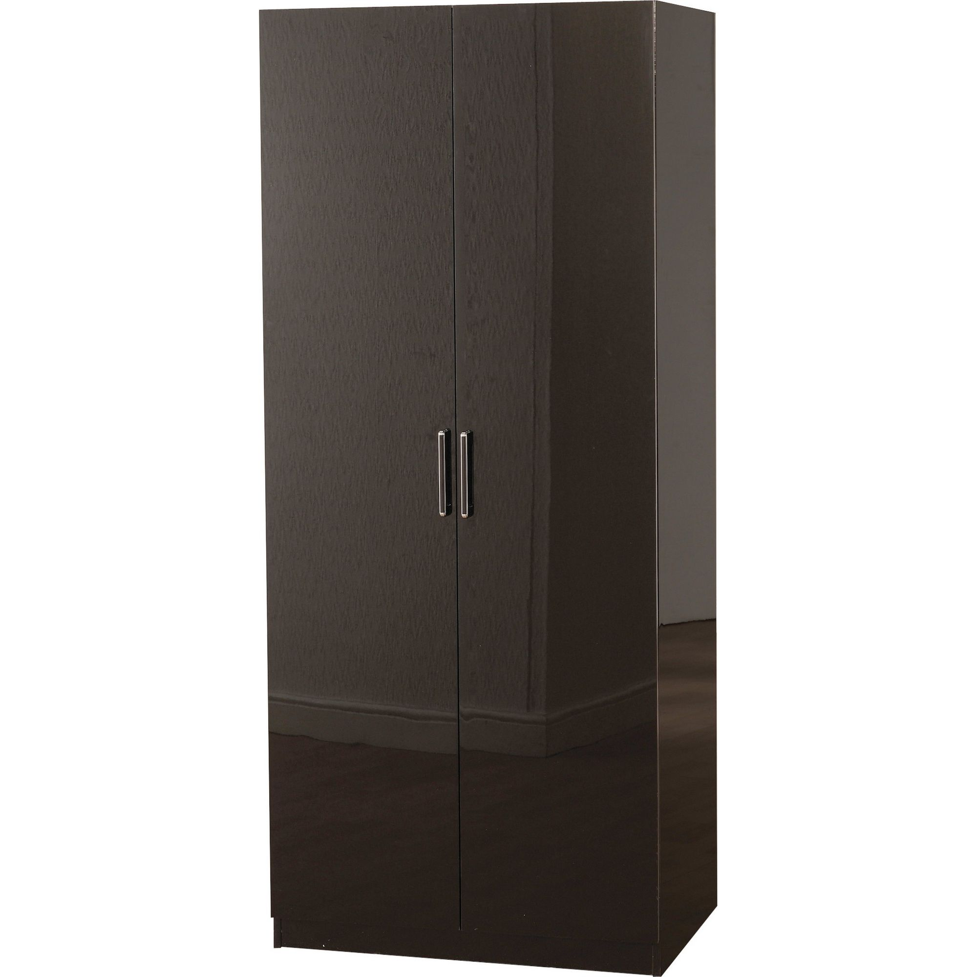Home Essence Boston Two Door Wardrobe - Black Gloss at Tesco Direct
