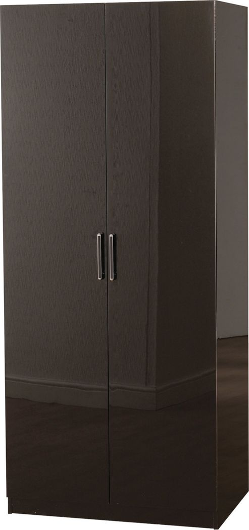 Home Essence Boston Two Door Wardrobe - Black Gloss