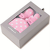 Baby Boum Hat & Booties Newborn Gift Set (Spotty Candy)