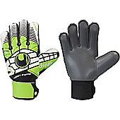 Uhlsport Eliminator Soft Graphit Supportframe Goalkeeper Gloves Size - Black