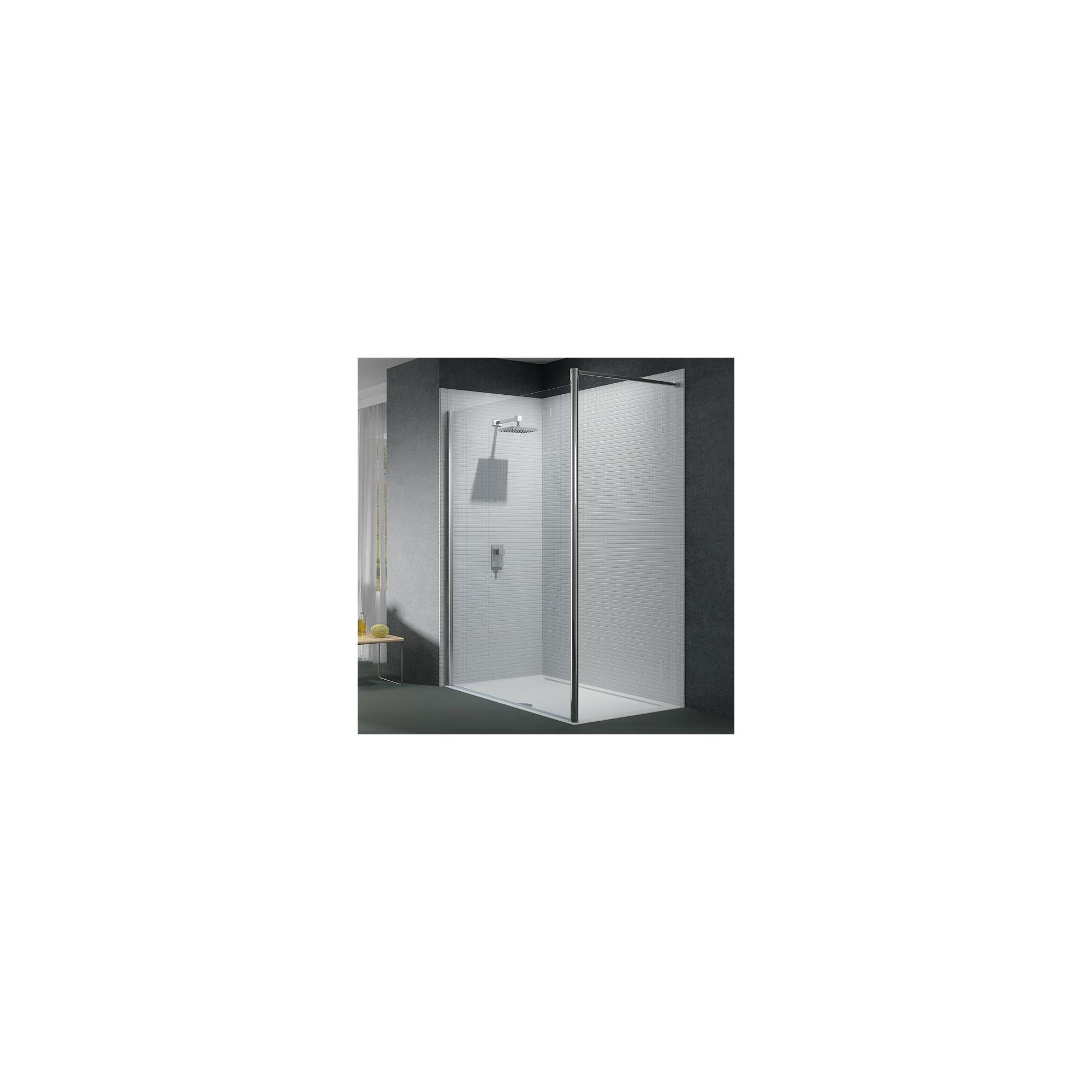 Merlyn Series 6 Wet Room Glass Shower Panel, 800mm Wide, 6mm Glass, Horizontal Support at Tesco Direct