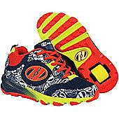 Heelys Race Kids Heely Shoe - Navy/Burnt Orange/Lime - 1