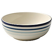 Tesco Painterly Stripe Cereal Bowl, Blue