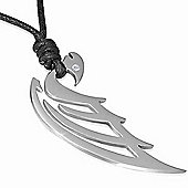 Urban Male Adjustable Black Cord Necklace with Dragon Pendant