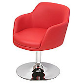 Home Essence Bucketeer Swivel Chair - Red