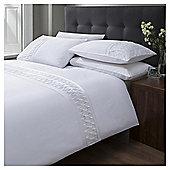 Cotton Rich White Pintuck Duvet Set, Double
