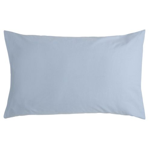 Tesco Pure Cotton Pillowcase Chambray Blue