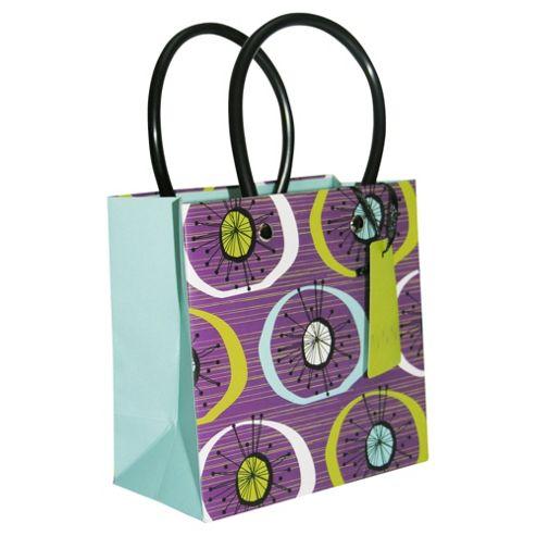 Plum Circles bag - small