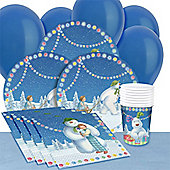 Snowman and Snowdog Party Christmas Party Pack For 8