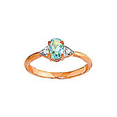 QP Jewellers Diamond & Aquamarine Allure Ring in 14K Rose Gold
