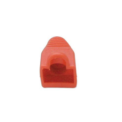LINDY Pre-assembly RJ-45 Strain Relief Boot Red (10 per pack)