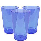Royal Blue Plastic Tumbler Glasses - 414ml