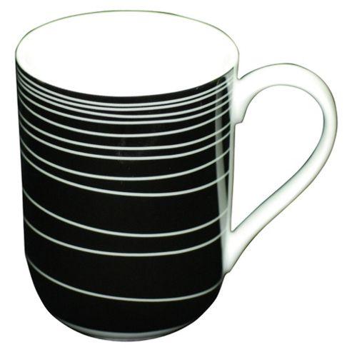 Tesco Atlanta Set of 4 Mugs, Black