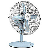 "Swan Retro Vintage 12"" Desk Fan, 3 Speed - Blue"