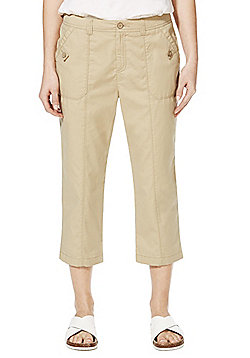 F&F Cropped Trousers - Stone