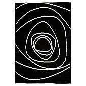 Tesco Scribble Rug Black/White 160X230Cm