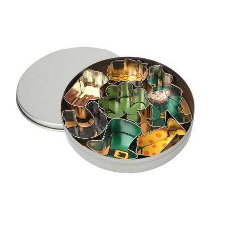 Lucky Shamrock Cookie Cutter Set in a Tin set of 7