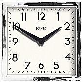 Jones & Co Silver Box Clock