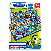 Disneys Monsters University 2 In 1 Ludo + Snakes And Ladders Game