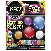 Illoom 15 Pack Mixed LED Balloons
