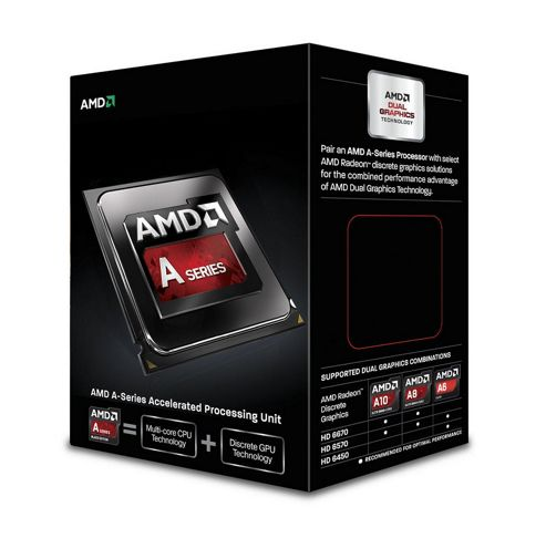 AMD A6 Series Dual Core (A6-6400K) 3.9GHz with Radeon HD 8470D Graphics Card