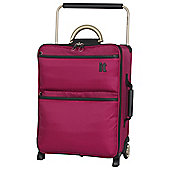 IT Luggage World's Lightest 2-Wheel Small Cerise Suitcase