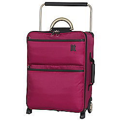 IT Luggage World's Lightest 2-Wheel Suitcase, Cerise Small