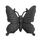 Wall Mountable Black Cast Iron Butterfly Garden Ornament