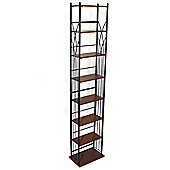 Techstyle 140 DVD / 210 CD Storage Tower Shelves - Black